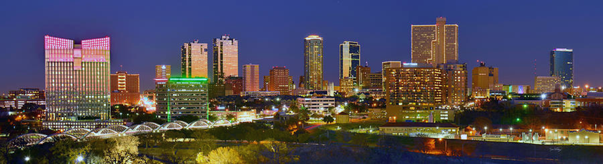 Fort Worth Night Skyline